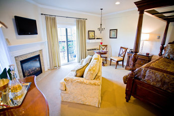 King fireplace suite at The French Manor Inn.