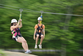Adventure ropes at Woodloch Resort.
