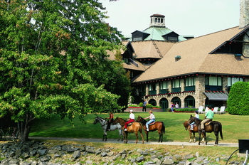 Horseback riding at Fairmont Le Chateau Montebello.