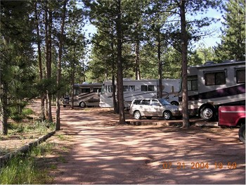 RV Park at Bristlecone Lodge.