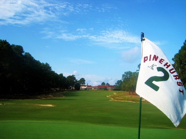 Hole #2 at Pinehurst Resort.