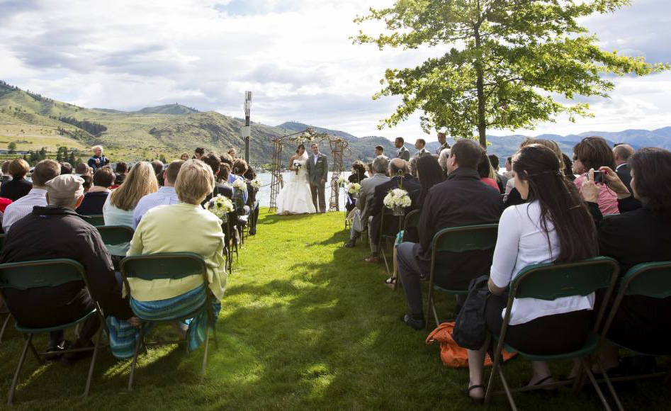 Wedding at Campbell's Resort on Lake Chelan.