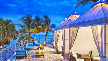 Private cabanas at The Westin Diplomat Resort.