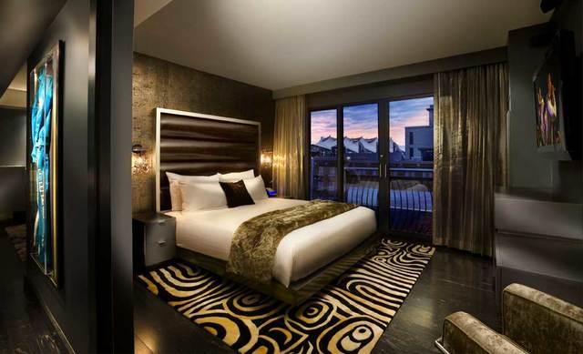 Suite bedroom at Hard Rock Hotel.