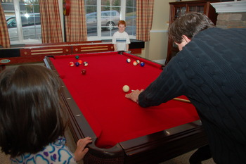 Pool Table at Railey Mountain Lake Vacations