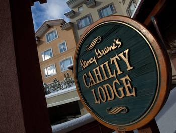 Cahilty Lodge sign.