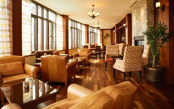 Lounge at Fairmont Tremblant Resort.
