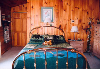 Bedroom at the Lake View Lodge, Inc.