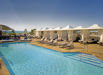 Outdoor pool at Mayfair Hotel & Spa.