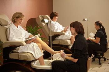 Pedicure at Cranwell Resort.