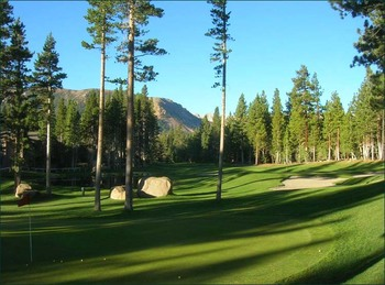 Golf course at Mammoth Property Reservations.