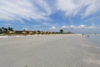 The beach at Sanibel's Seaside Inn.