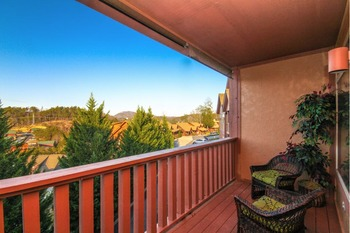 Balcony view at Golfview Vacation Rentals.
