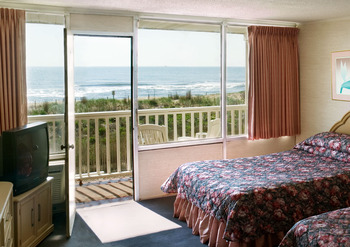 Guest room at Seabonay Motel Ocean City.