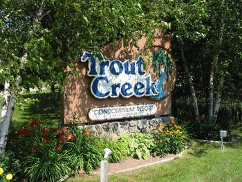 Entrance to Trout Creek Condominium Resort.
