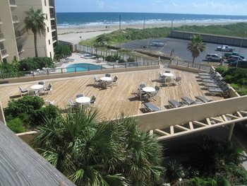 Sundeck at The Dunes Condominiums.