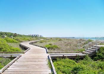 Boardwalk near Long Bay Resort.