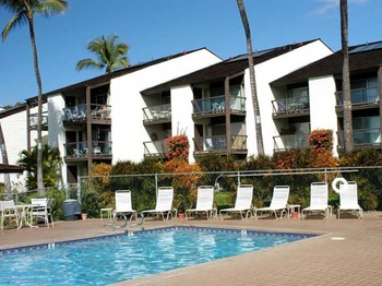 Outdoor pool at Hale Kamaole Condos.