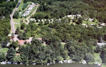 Aerial view of Rose's Bay Resort.