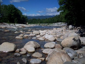 The Pemigewasset River at The Lodge at Lincoln Station.