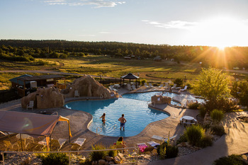 Outdoor pool at Zion Ponderosa Ranch.