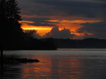 Sunset at Rain Forest Resort.