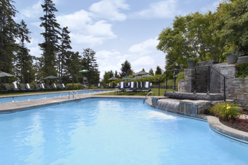 Outdoor pool at Fairmont Le Manoir Richelieu.