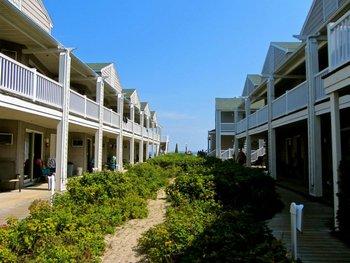 Exterior of Ocean Walk Hotel.