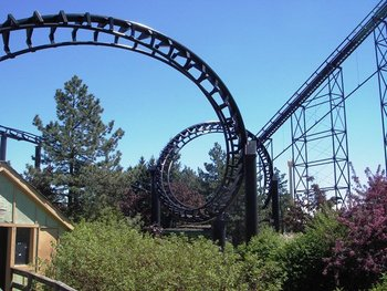 Roller coaster at Darien Lake Resort.