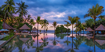 Outdoor pool at The Oberoi Lombok.