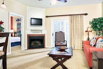 Vacation living room at Wyndham Vacation Resorts Shawnee Village.