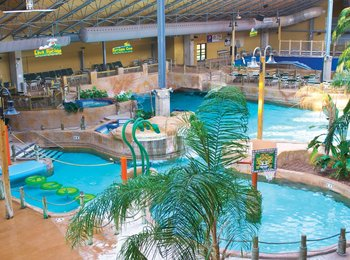 Indoor water park at Split Rock Resort & Golf Club.