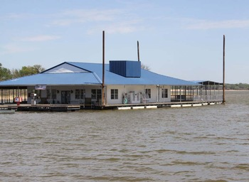 Exterior view of Texoma Marina & Resort.