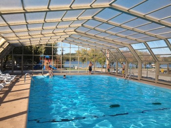 Indoor pool at Prizer Point Marina & Resort.