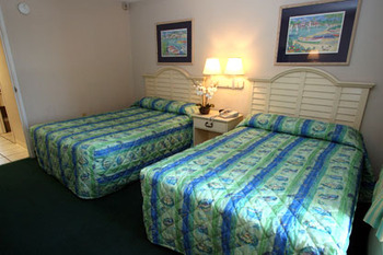 Guest rooms at Beachcomber by the Sea.