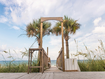 Vacation at Coastal Commodity, a beachfront home in Panama City Beach by Southern, and enjoy a beach wedding in your backyard!