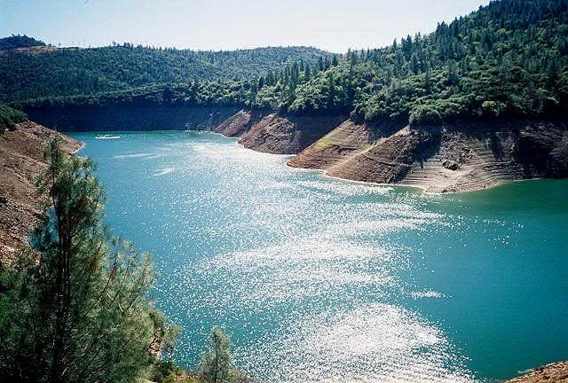 View of lake at Lake Oroville.