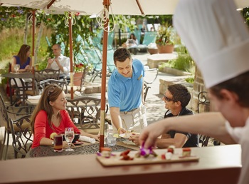 Dining at Fairmont Tremblant Resort.