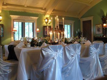 Wedding reception at Stout's Island Lodge.