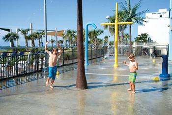 Splash pad at Bay View Resort.