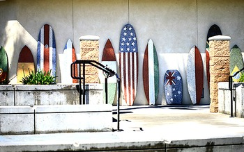 Surf Boards at The Waterfront Beach Resort