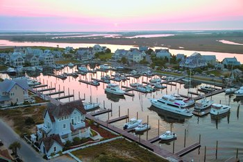 The marina at Bald Head Island Limited.