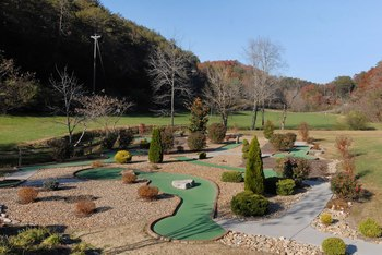 Golf course near Fireside Chalets & Cabin Rentals.