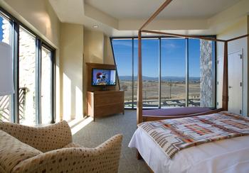 Guest room at Sky Ute Casino Resort.