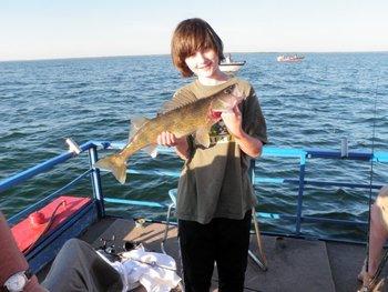 Fishing at Appeldoorn's Sunset Bay Resort.