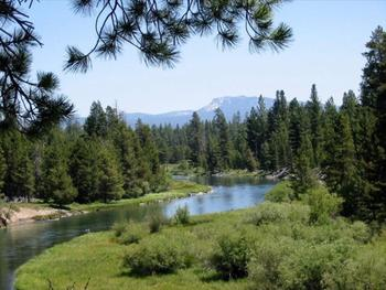 Lake view at Vacasa Rentals Sunriver.