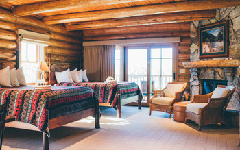 Guest room at South Fork Lodge.