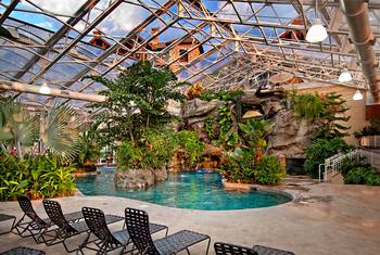 Indoor pool at Crystal Springs Resort.
