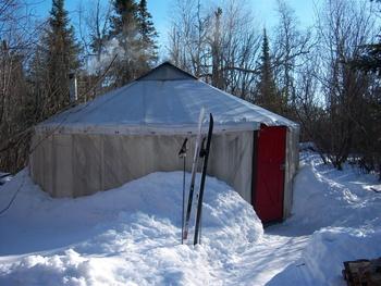 Wilderness yurts at Poplar Creek  B & B.
