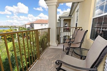 Vacation rental balcony at Vista Cay Inn.